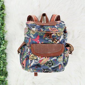 SakRoots Artist Circle Happy Bird Print Backpack